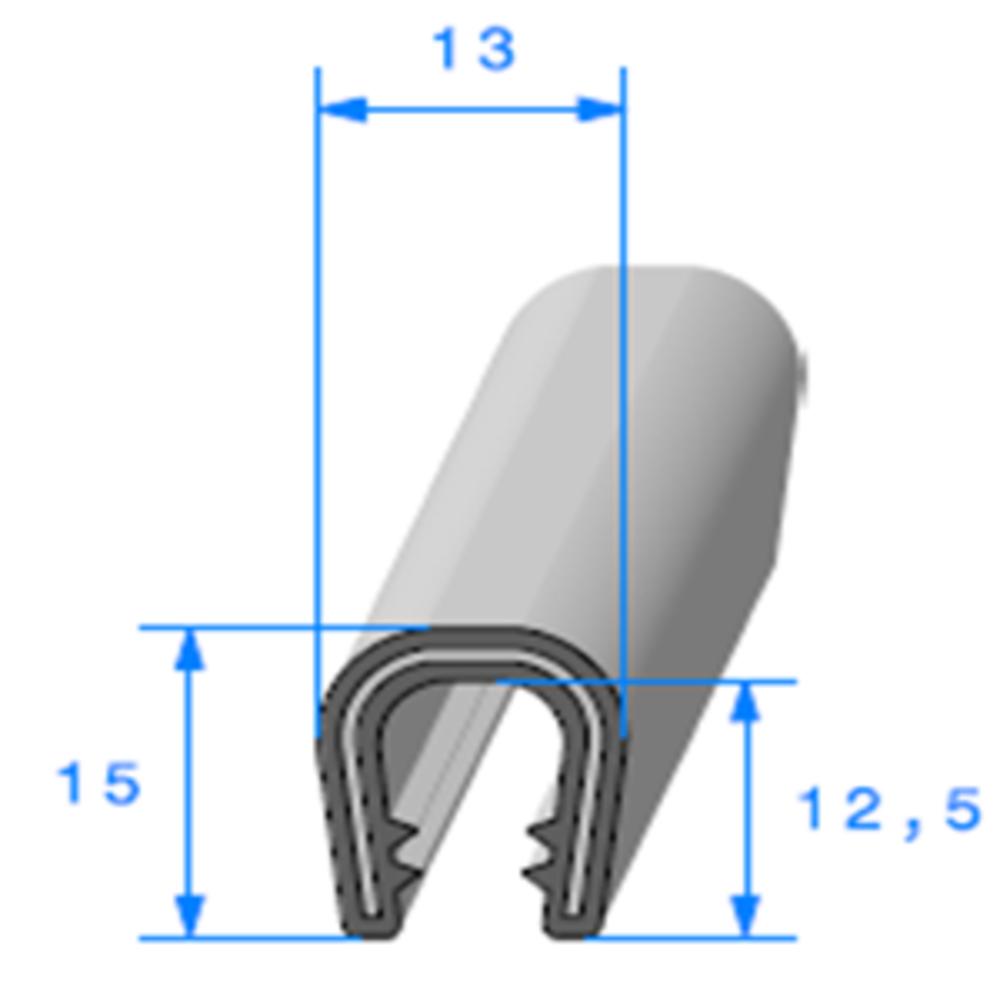 Pince PVC Armé   [Accroche 5 à 6 mm]   Vendu au Mètre