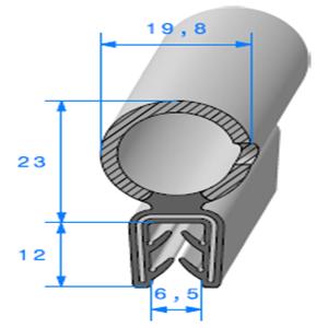 Pince EPDM Armé + Bulbe EPDM 3/5 mm