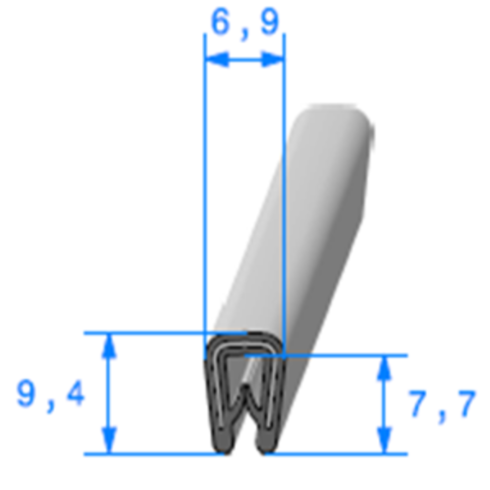 Pince PVC Armé   [0.8/2 mm]   Vendu au Mètre
