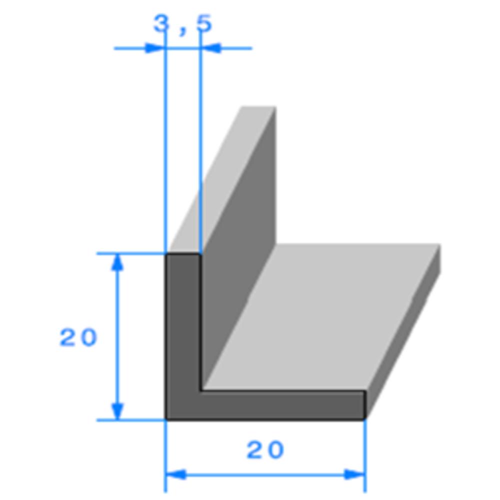 Compact en L   [20 x 20 mm]   Vendu au Mètre