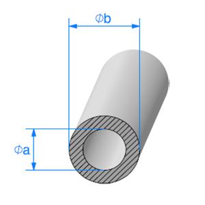 Rond EPDM Cellulaire [18x42 mm]   Vendu au Mètre