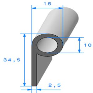Note de Musique [15x34.5 mm]   Vendu au Mètre