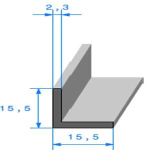 Compact en L   [15,5 x 15,5 mm]   Vendu au Mètre