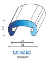 CAD040MC Profil EPDM [70SH] - NOIR-MAIN COURANTE40