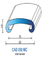 CAD050MC Profil EPDM [70SH] - NOIR-MAIN COURANTE50