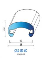 CAD060MC Profil EPDM [70SH] - NOIR-MAIN COURANTE60