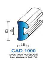 CAD1000B Profil EPDM   70 Shore   Blanc