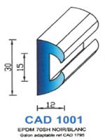 CAD1001N Profil EPDM   70 Shore   Noir
