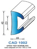 CAD1002N Profil EPDM   70 Shore   Noir