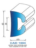 CAD1004B Profil EPDM   70 Shore   Blanc