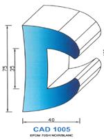 CAD1005B Profil EPDM   70 Shore   Blanc