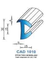 CAD1010B Profil EPDM   70 Shore   Blanc