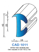 CAD1011B Profil EPDM   70 Shore   Blanc