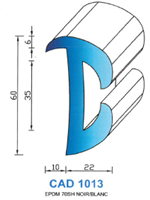 CAD1013B Profil EPDM   70 Shore   Blanc
