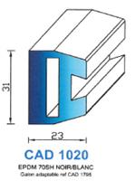 CAD1020N Profil EPDM   70 Shore   Noir