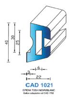 CAD1021B Profil EPDM   70 Shore   Blanc