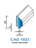 CAD1023N Profil EPDM [70SH] NOIR