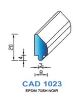 CAD1023N Profil EPDM   70 Shore   Noir