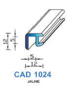 CAD1024C Profil EPDM <br /> 70 Shore <br /> Jaune<br />