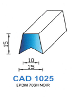 CAD1025N Profil EPDM [70SH] NOIR