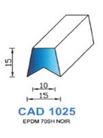 CAD1025N Profil EPDM   70 Shore   Noir