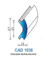 CAD1038B Profil EPDM   65 Shore   Blanc