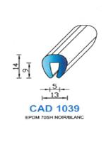 CAD1039B Profil EPDM <br /> 70 Shore <br /> Blanc<br />