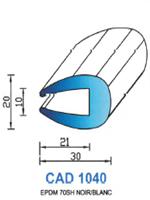 CAD1040C Profil EPDM <br /> 70 Shore <br /> Couleur<br />