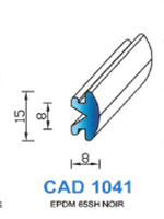 CAD1041N PROFIL EPDM - 65SH - NOIR