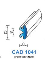 CAD1041N Profil EPDM   65 Shore   Noir