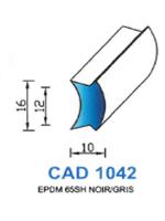 CAD1042C Profil EPDM   65 Shore   Couleur