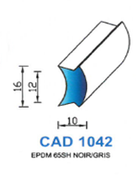 CAD1042N Profil EPDM   65 Shore   Noir