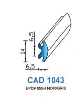 CAD1043G PROFIL EPDM - 65SH - GRIS