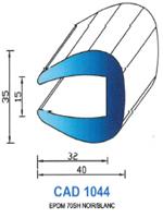 CAD1044B Profil EPDM   70 Shore   Blanc