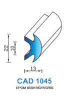CAD1045N PROFIL EPDM - 65SH - NOIR