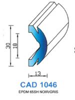 CAD1046N Profil EPDM   65 Shore   Noir