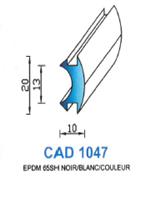 CAD1047N Profil EPDM   65 Shore   Noir