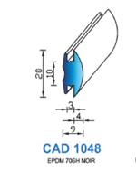 CAD1048N Profil EPDM   70 Shore   Noir
