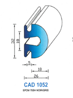 CAD1052N PROFIL EPDM - 70SH  - NOIR