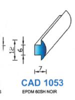 CAD1053N Profil EPDM   60 Shore   Noir