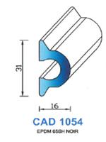 CAD1054N Profil EPDM   65 Shore   Noir