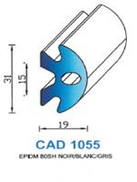 CAD1055B Profil EPDM   80 Shore   Blanc