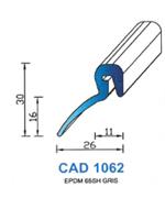 CAD1062G Profil EPDM <br /> 65 Shore <br /> Gris<br />
