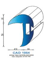 CAD1064G PROFIL EPDM - 70SH - GRIS