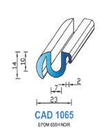 CAD1065N Profil EPDM   65 Shore   Noir