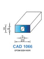 CAD1066N Profil EPDM   65 Shore   Noir