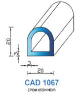 CAD1067N Profil EPDM   65 Shore   Noir