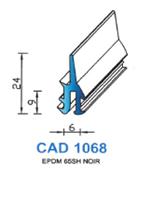 CAD1068N Profil EPDM   65 Shore   Noir
