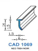 CAD1069N Profil NEO   70 Shore   Noir