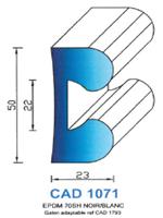 CAD1071B Profil EPDM   70 Shore   Blanc